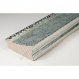 INK7522.653 70x30 - drewniana srebrna-dekor rama do obrazów i luster sample