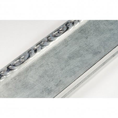 INK7522.653 70x30 - srebrna rama z dekorem do obrazów i luster