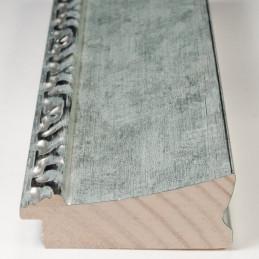 INK7522.653 70x30 - drewniana srebrna-dekor rama do obrazów i luster sample1