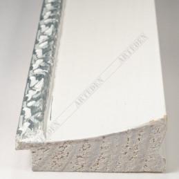 INK7522.681 70x30 - drewniana biała-dekor rama do obrazów i luster sample