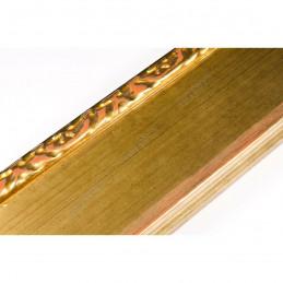 INK7522.740 70x30 - drewniana złota-dekor rama do obrazów i luster