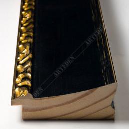 INK7522.771 70x30 - drewniana czarna-dekor rama do obrazów i luster sample