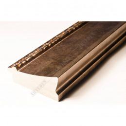 INK7522.773 70x30 - drewniana brąz metaliczna-dekor rama do obrazów i luster sample1
