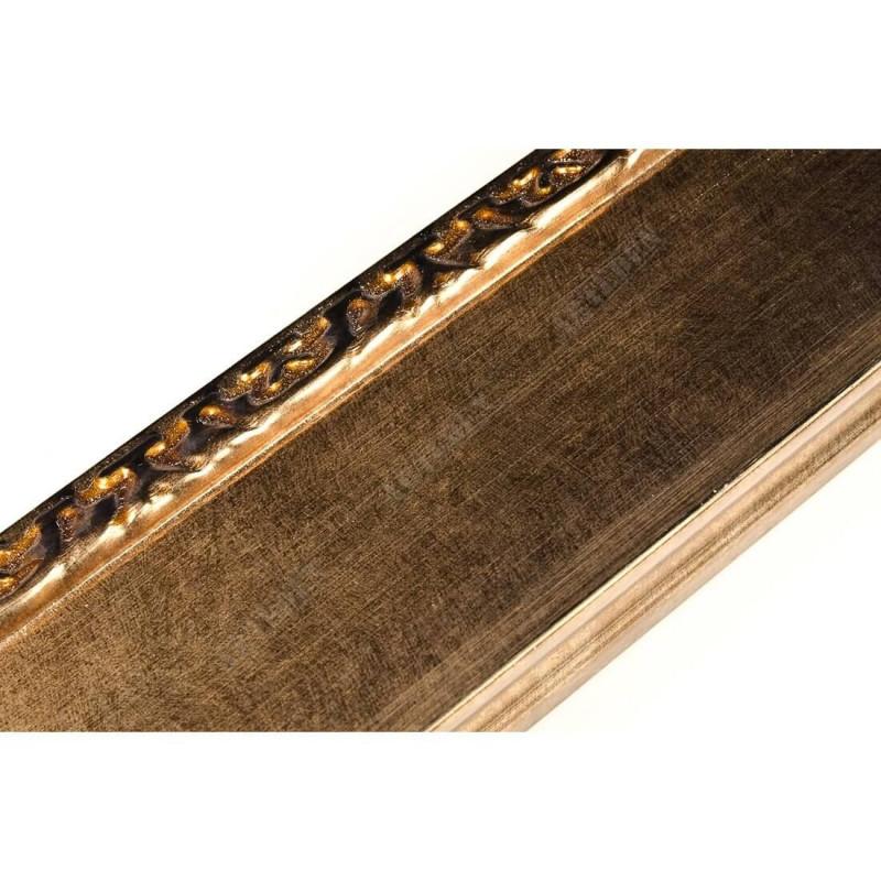 INK7522.773 70x30 - drewniana brąz metaliczna-dekor rama do obrazów i luster