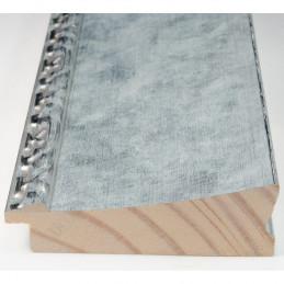 INK7523.653 90x30 - szeroka srebrna-dekor rama do obrazów i luster sample