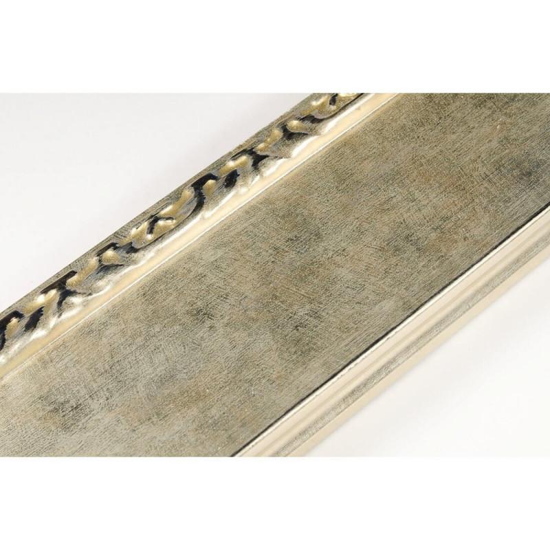 INK7523.673 90x30 - szeroka szampańskie złoto-dekor rama do obrazów i luster