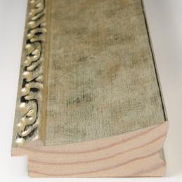 INK7523.673 90x30 - szeroka szampańskie złoto-dekor rama do obrazów i luster sample