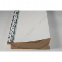 INK7523.681 90x30 - szeroka biała-dekor rama do obrazów i luster sample