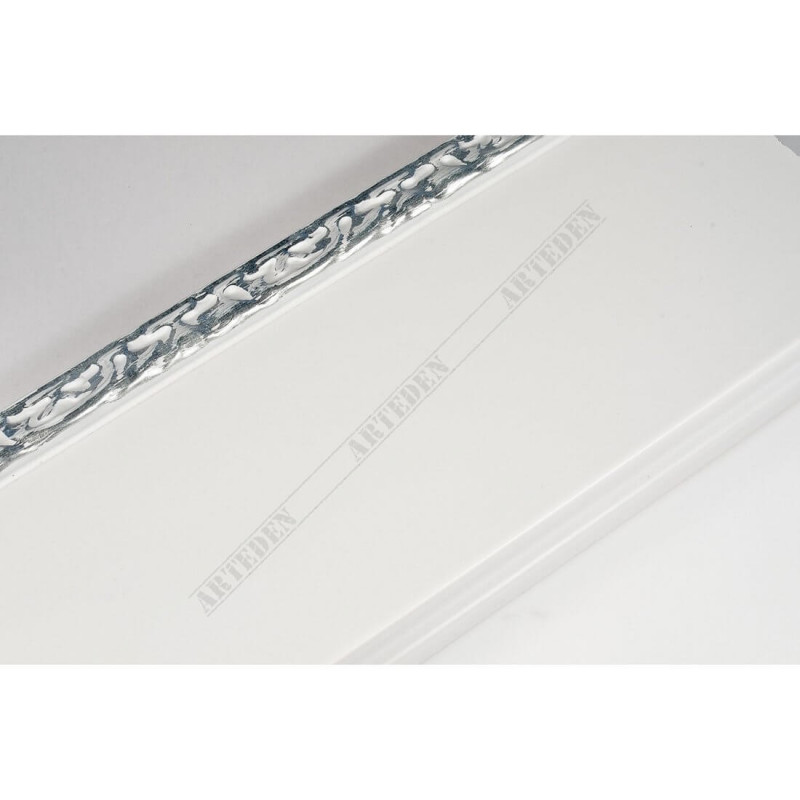 INK7523.681 90x30 - szeroka biała-dekor rama do obrazów i luster