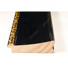 INK7523.771 90x30 - szeroka czarna-dekor rama do obrazów i luster sample