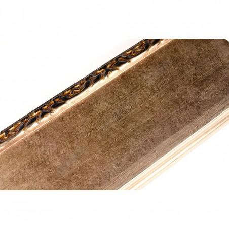 INK7523.773 90x30 - szeroka brązowa rama metaliczna z dekorem