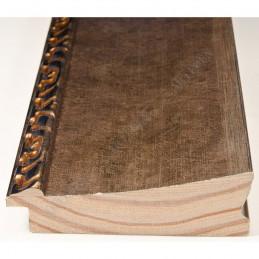 INK7523.773 90x30 - szeroka brąz metaliczna-dekor rama do obrazów i luster sample