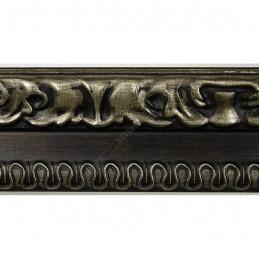 INK7531.476 45x25 - drewniana ciemny brąz-srebrny dekor rama do obrazów i luster sample1