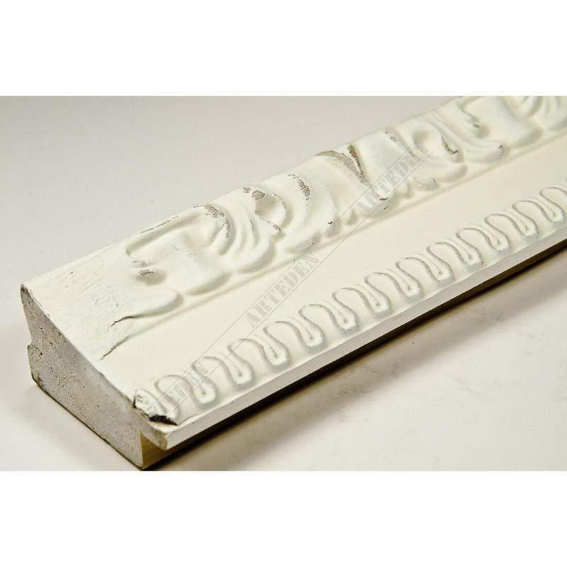 INK7531.581 45x25 - drewniana ciepła biała rama do obrazów i luster sample