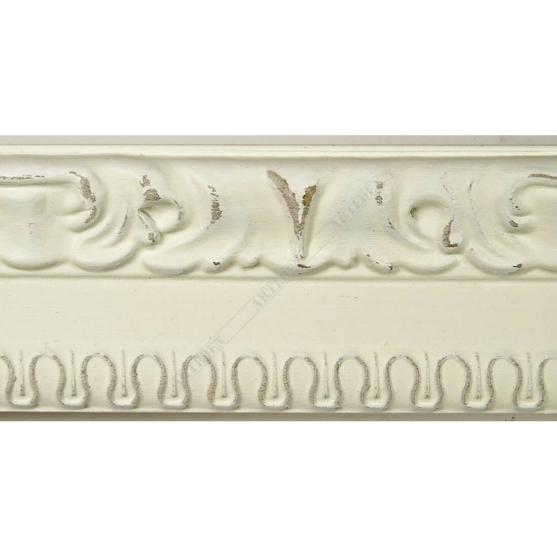 INK7531.581 45x25 - drewniana ciepła biała rama do obrazów i luster sample1