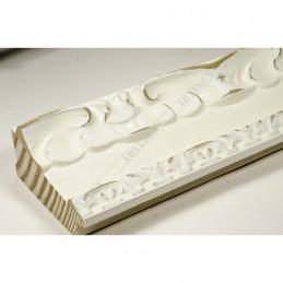 INK7532.581 70x35 - drewniana ciepła biała dekor rama do obrazów i luster sample
