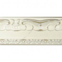 INK7532.581 70x35 - drewniana ciepła biała dekor rama do obrazów i luster sample1