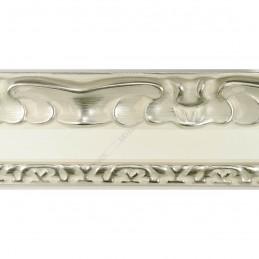 INK7532.686 70x35 - drewniana perłowa-srebrny dekor rama do obrazów i luster sample1