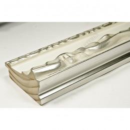 INK7532.686 70x35 - drewniana perłowa-srebrny dekor rama do obrazów i luster