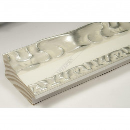 INK7532.686 70x35 - drewniana perłowa-srebrny dekor rama do obrazów i luster sample