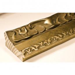 INK7532.740 70x35 - drewniana perłowa-złoty dekor rama do obrazów i luster sample