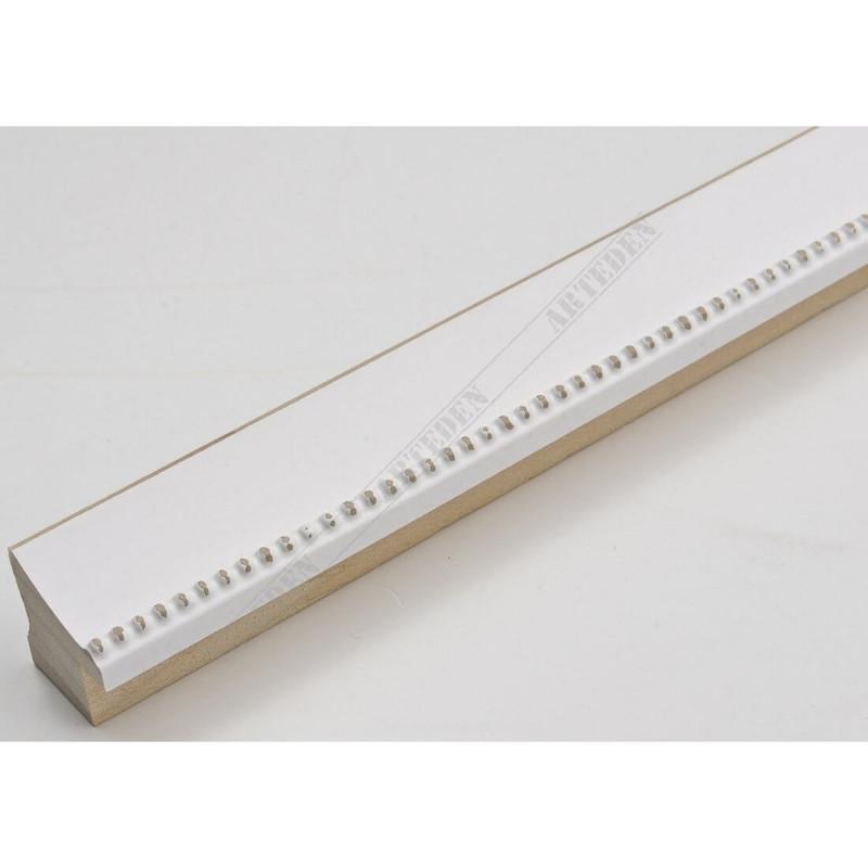 INK7560.481 23x23 - wąska biała perełka rama do zdjęć i luster sample
