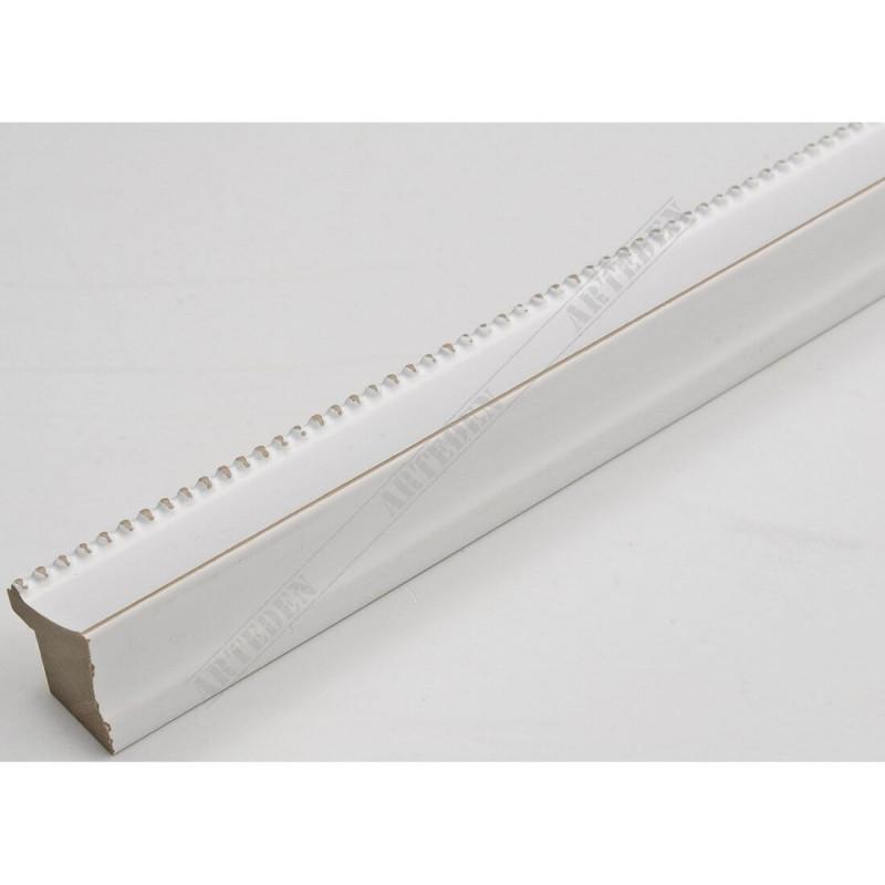 INK7560.481 23x23 - wąska biała perełka rama do zdjęć i luster