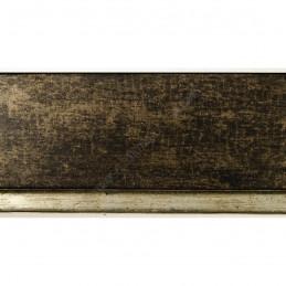 INK7902.976 43x27 - drewniana marmurkowa brąz - srebrny pasek rama do obrazów i luster sample1
