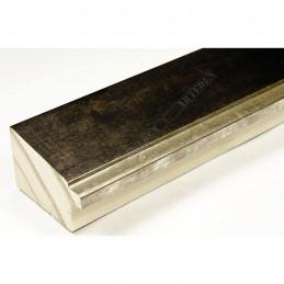 INK7902.976 43x27 - drewniana marmurkowa brąz - srebrny pasek rama do obrazów i luster sample