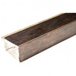 INK7902.976 43x27 - drewniana marmurkowa brąz - srebrny pasek rama do obrazów i luster