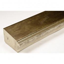 INK7902.979 43x27 - drewniana marmurkowa jasny brąz - srebrny pasek rama do obrazów i luster sample