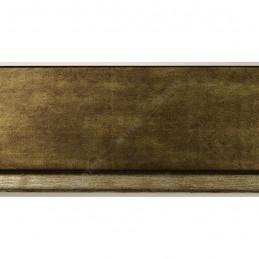 INK7902.979 43x27 - drewniana marmurkowa jasny brąz - srebrny pasek rama do obrazów i luster sample1