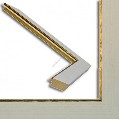 INK9016.780 33x13 - drewniana kremowa rama - wkładka do obrazów i luster