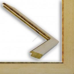 INK9016.786 33x13 - drewniana beżowa rama do obrazów i luster