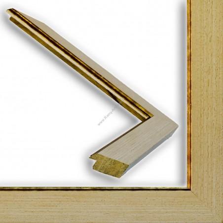 INK9016.786 33x13 - drewniana beżowa rama - wkładka do obrazów i luster