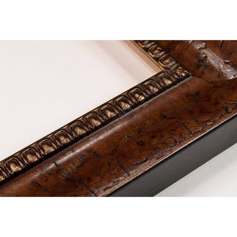 LMF1373.112.9305/Antracite 45x25 - drewniana brązowy kornik rama do obrazów i luster