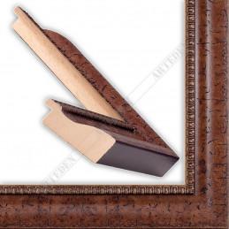 LMF1373.112.9305/Antracite 45x25 - drewniana brązowy kornik rama do obrazów i luster sample