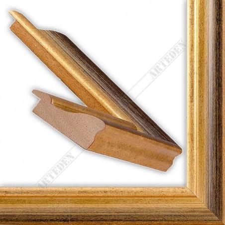 LMF616.131.1016/OroNero 43x24 - złota rama przecierana