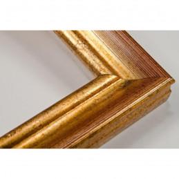 LMF618.131.1001 27x18 - wąska złota przecierana - bordo rama do zdjęć i luster