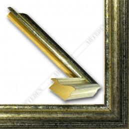 LMF618.131.3012 27x18 - wąska srebrna przecierana - czarna rama do zdjęć i luster sample