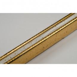 PLA272/130 15x18 - mała złota-biel ramka do zdjęć i obrazków