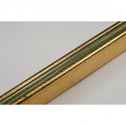 PLA272/131 15x18 - mała złota-zieleń ramka do zdjęć i obrazków