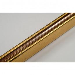 PLA272/133 15x18 - mała złota-czerwień ramka do zdjęć i obrazków