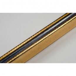PLA272/136 15x18 - mała złota-granat ramka do zdjęć i obrazków