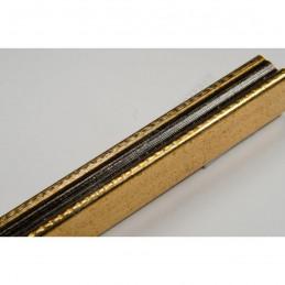 PLA272/138 15x18 - mała złota-czerń ramka do zdjęć i obrazków