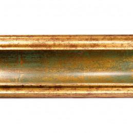 PLA314/0691 70x30 - drewniana new classic zielona blejtram rama do obrazów i luster