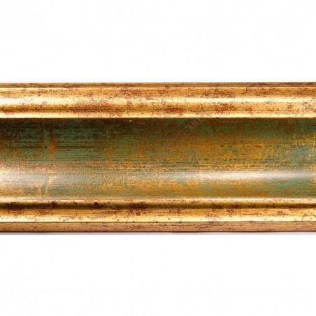 ASO279.53.047 70x33 - złoto zielona rama do obrazów i luster