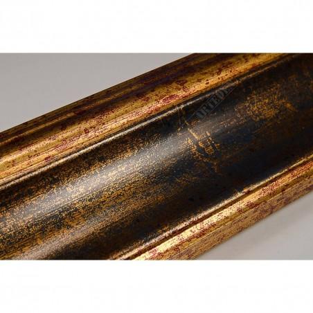 ASO279.53.050 70x33 - złoto niebieska rama do obrazów i luster