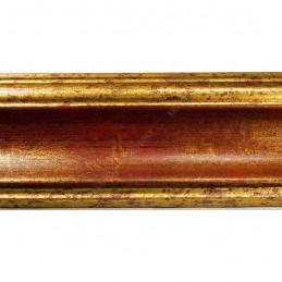 PLA314/0693 70x30 - drewniana new classic czerwona blejtram rama do obrazów i luster