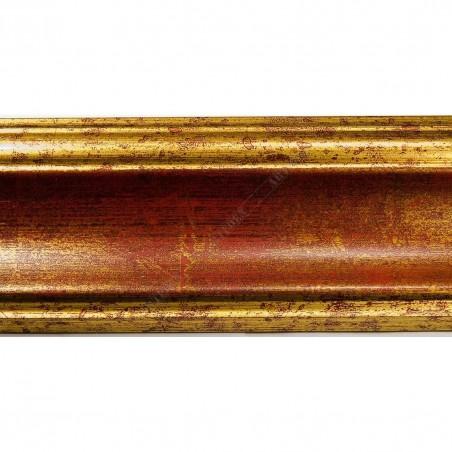 ASO279.53.015 70x33 - złoto czerwona rama do obrazów i luster